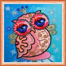 Kralen borduurpakket Fairy Owl - Abris Art