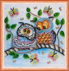 Bead Embroidery kit Owl Duet - Abris Art