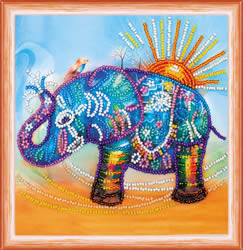 Bead Embroidery kit Neon Elephant - Abris Art