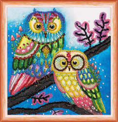 Bead Embroidery kit Night Couple - Abris Art