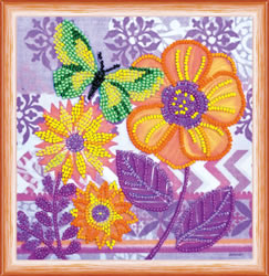 Bead Embroidery kit Amazing Flowers - Abris Art