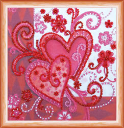 Bead Embroidery kit Loving Hearts - Abris Art