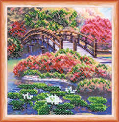 Bead Embroidery kit Flowers in the Pond - Abris Art