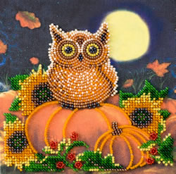 Bead Embroidery kit Night Guest - Abris Art