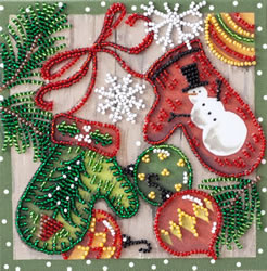Bead Embroidery kit Holiday Trivia - Abris Art