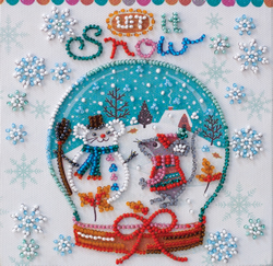 Bead Embroidery kit Snowiness - Abris Art