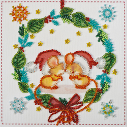 Bead Embroidery kit Kisses - Abris Art