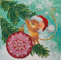 Bead Embroidery kit Decorating Christmas Tree - Abris Art