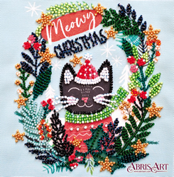 Kralen borduurpakket Meow Christmas - Abris Art