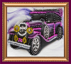 Bead Embroidery kit Retro Car - Abris Art