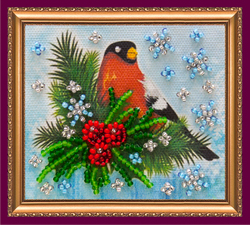 Bead Embroidery kit Bullfinch - Abris Art