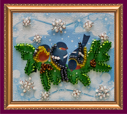 Bead Embroidery kit On the Twig - 1 - Abris Art