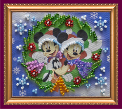 Bead Embroidery kit Happy New Year - 6 - Abris Art