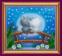 Bead Embroidery kit Moon Cats - Abris Art