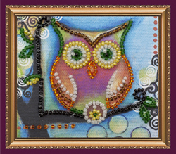 Bead Embroidery kit Owl – 1 - Abris Art