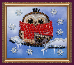 Bead Embroidery kit Owl - 6 - Abris Art