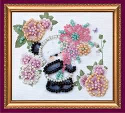 Bead Embroidery kit Bear's Greeting - Abris Art