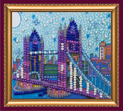 Bead Embroidery kit London - Abris Art
