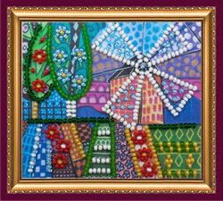 Bead Embroidery kit Amsterdam - Abris Art