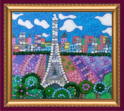 Bead Embroidery kit Paris - Abris Art