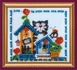 Bead Embroidery kit Housewarming - Abris Art