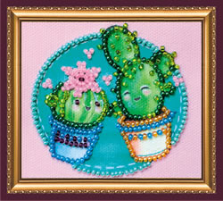 Bead Embroidery kit Little Cacti - Abris Art