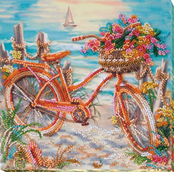 Bead Embroidery kit At the Age of the Azure - Abris Art