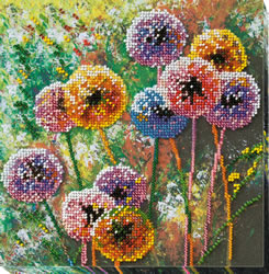 Bead Embroidery kit Multi-colored Balls - Abris Art