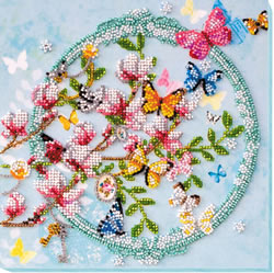 Bead Embroidery kit Keys to the Spring - Abris Art
