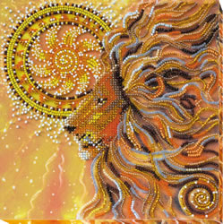 Bead Embroidery kit Sunny Lion - Abris Art