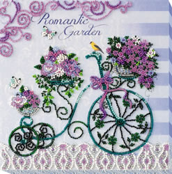 Bead Embroidery kit Romantic Garden - Abris Art