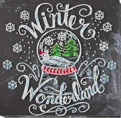 Bead Embroidery kit Winter Wonderland - Abris Art