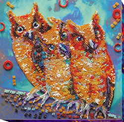 Bead Embroidery kit Funny Trio - Abris Art