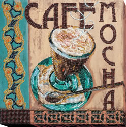 Bead Embroidery kit Mocha - Abris Art