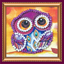 Bead Embroidery kit Owl - 1 - Abris Art