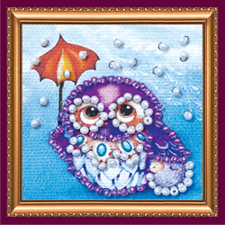 Bead Embroidery kit Owl - 3 - Abris Art