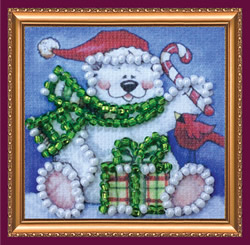 Bead Embroidery kit Fun Bear - Abris Art