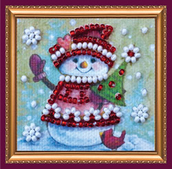 Bead Embroidery kit Winter Guest - Abris Art