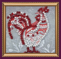 Bead Embroidery kit Master of the Yard - Abris Art