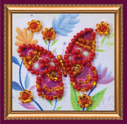 Bead Embroidery kit Flying Flower - Abris Art