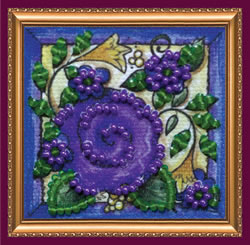 Bead Embroidery kit Flower Carpet - Abris Art