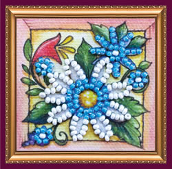 Bead Embroidery kit Guessing on a Camomile - Abris Art