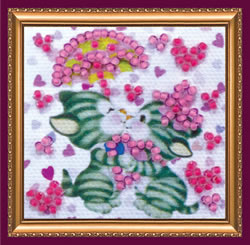 Bead Embroidery kit Pair in Love - Abris Art