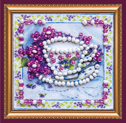 Bead Embroidery kit Fragrant Tea - Abris Art