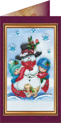 Bead Embroidery kit Happy New Year - Abris Art