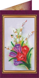 Bead Embroidery kit Congratulations - 9 - Abris Art