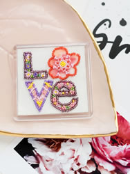 Bead Embroidery kit Declaration of Love - Abris Art