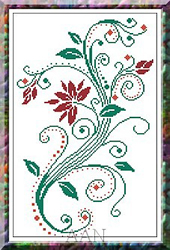 Cross Stitch Chart Summer Bouquet - Alessandra Adelaide