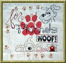 Cross Stitch Chart My Dog Sampler - Alessandra Adelaide
