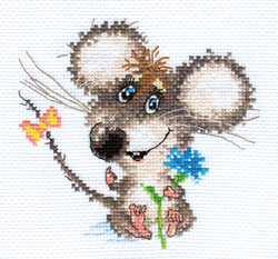 Cross stitch kit Enamored Baby Mouse - Alisa